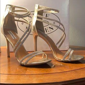 Steve Madden gold sparkle heels